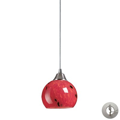 Angeletta 1-Light Glass Shade Mini Pendant