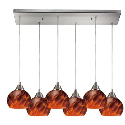 Angeletta 6-Light 100W Wire Kitchen Island Pendant