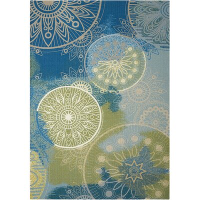 Mamer Blue Indoor/Outdoor Area Rug Rug Size: 79 x 1010