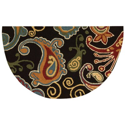 Gaskin Black/Red Area Rug