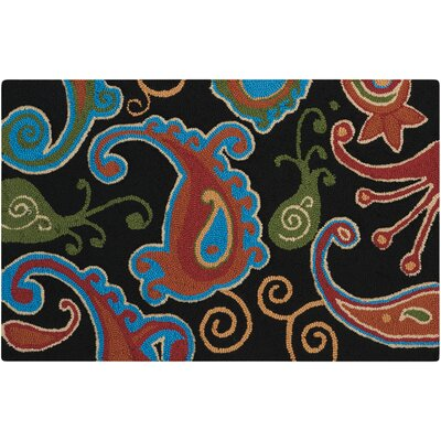 Gaskin Rectangle Black/Red Area Rug
