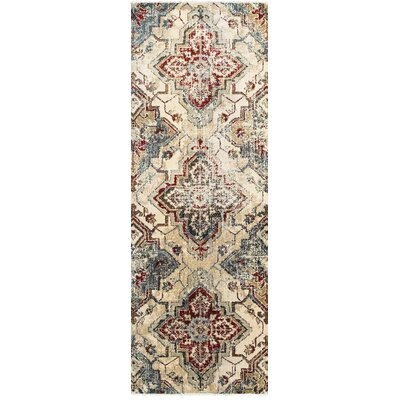 Harbor Ivory/Gold Area Rug Rug Size: 53 x 76