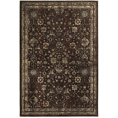 Harbor Brown/Ivory Area Rug Rug Size: 53 x 76