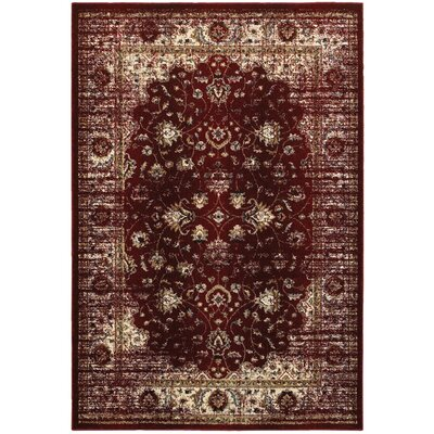 Quenby Red/Ivory Area Rug Rug Size: Rectangle 910 x 1210