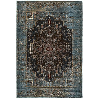 Harbor Blue/Navy Area Rug Rug Size: 67 x 96