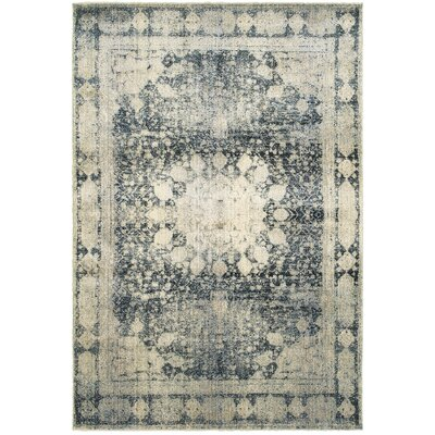 Harbor Ivory/Blue Area Rug Rug Size: Runner 23 x 76