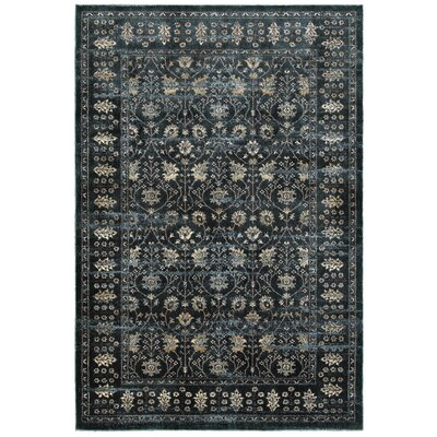 Harbor Navy/Ivory Area Rug Rug Size: Runner 23 x 76