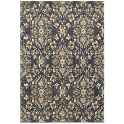Sacha Black/Brown Area Rug Rug Size: 53 x 76