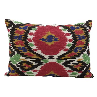 Agnes Lake Ikat Suede Lumbar Pillow