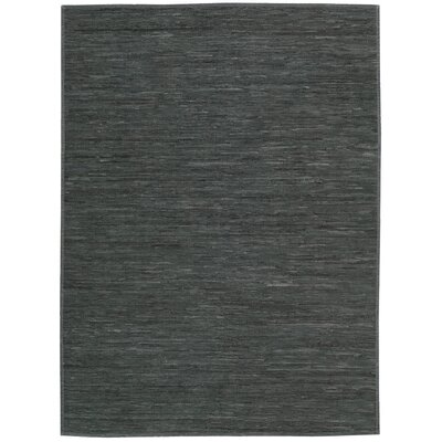 Santos Hand-Woven Dark Gray Area Rug Rug Size: Rectangle 9 x 12