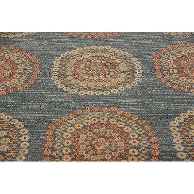 Virginia Blue/Brown Area Rug Rug Size: Rectangle 7 x 10