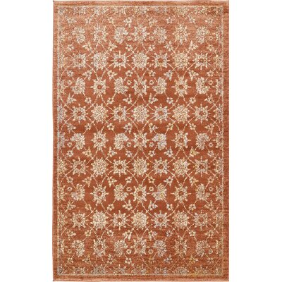 Jae Orange Area Rug Rug Size: 5 x 8