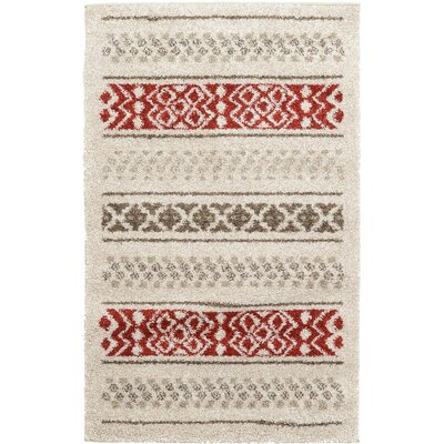 Lucy Beige Area Rug Rug Size: 33 x 53