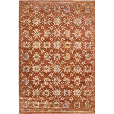 Geleen Orange Area Rug Rug Size: 6 x 9