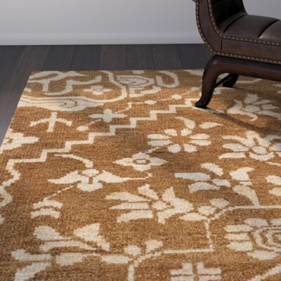 Tarangini Hand-Knotted Brown/Beige Area Rug Rug Size: Rectangle 6 x 9