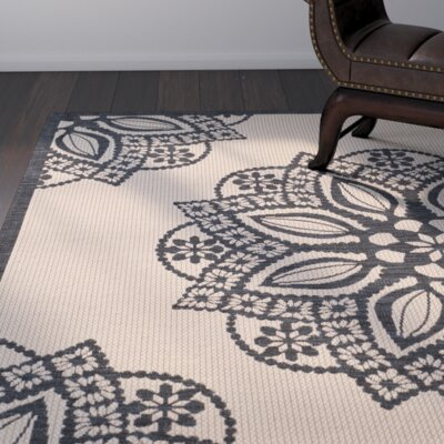 Catori Beige/Black Indoor/Outdoor Area Rug Rug Size: Runner 24 x 12