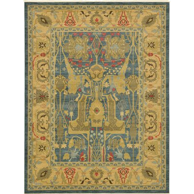 Zoey Beige/Blue Area Rug Rug Size: Rectangle 7 x 10