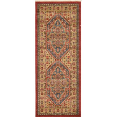 Zoey Red Area Rug Rug Size: 67x 27