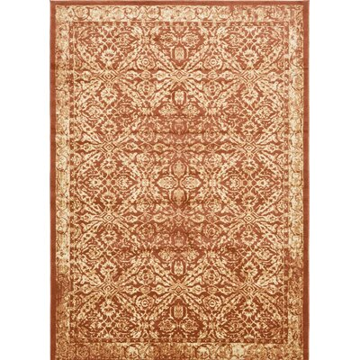 Geleen Orange/Beige Area Rug Rug Size: 8 x 114