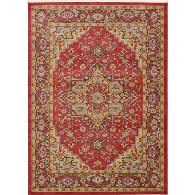 Zoey Red Area Rug Rug Size: Rectangle 116 x 82