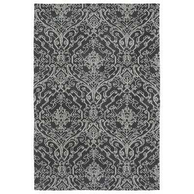 Qichen Charcoal Area Rug Rug Size: Rectangle 5 x 7