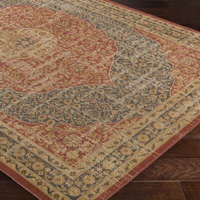 Cerys Traditional Brown Area Rug Rug Size: Rectangle 52 x 76