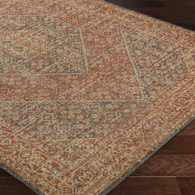 Cerys Eclectic Brown Area Rug Rug Size: Rectangle 52 x 76