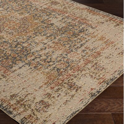 Cerys Oriental Traditional Brown Area Rug Rug Size: Rectangle 76 x 106