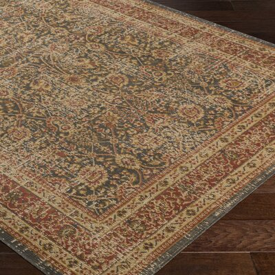 Cerys Oriental Eclectic Brown Area Rug Rug Size: Rectangle 76 x 106