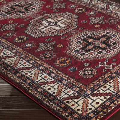Brahim Red/Black Area Rug Rug Size: 710 x 106