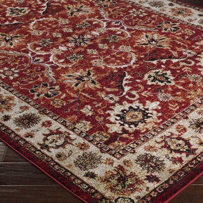 Brahim Red/Brown Area Rug Rug Size: 93 x 126