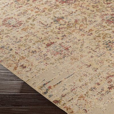 Cerys Beige Area Rug Rug Size: Rectangle 76 x 106