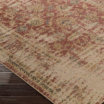 Cerys Neutral Traditional Brown Area Rug Rug Size: Rectangle 76 x 106