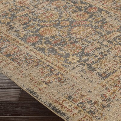 Cerys Neutral Eclectic Brown Area Rug Rug Size: Rectangle 76 x 106
