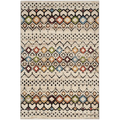 Vadim Ivory Area Rug Rug Size: Rectangle 3 x 5