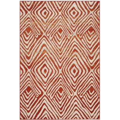 Vadim Ivory/Terracotta Area Rug Rug Size: Square 6'7
