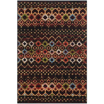 Vadim Black Area Rug Rug Size: Rectangle 4 x 6