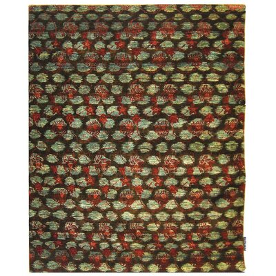 Yassin Hand-Knotted Black/Red Area Rug