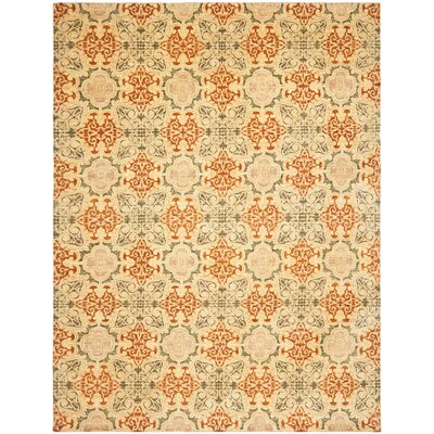 Yassin Hand-Knotted Olive Area Rug