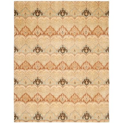 Yassin Hand-Knotted Beige Area Rug