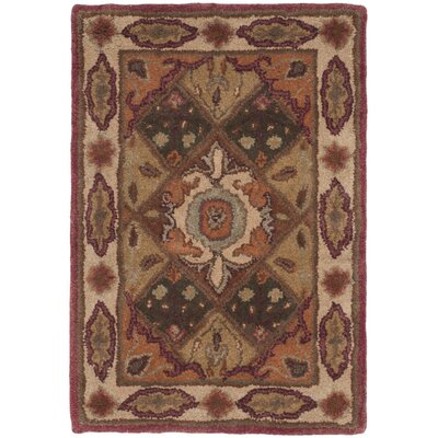 Hesperange Hand-Tufted Rust/Ivory Area Rug Rug Size: Rectangle 2 x 3