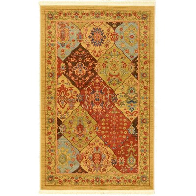 Janiyah Tan Area Rug Rug Size: Round 6