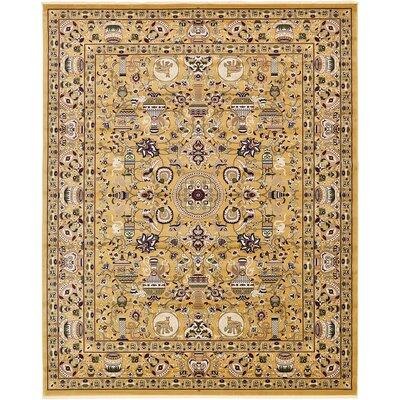 Altadena Gold Area Rug Rug Size: 5 x 77