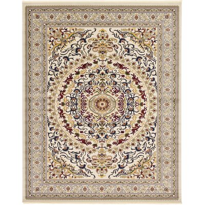Altadena Ivory Area Rug Rug Size: 67 x 910