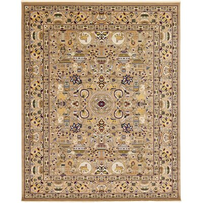 Altadena Light Brown Area Rug Rug Size: 5 x 77
