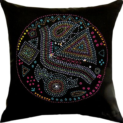 Pallavi Retro Handcrafted Throw Pillow