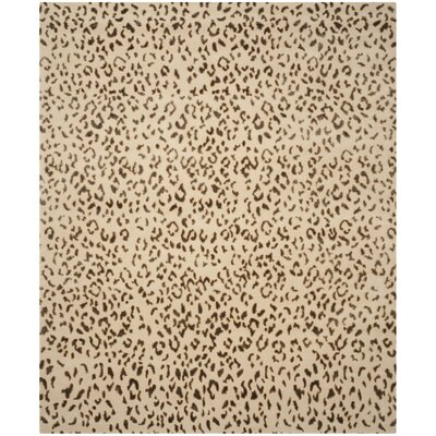 Hedgerley Hand-Knotted Cream / Deep Taupe Area Rug Rug Size: 4 x 6