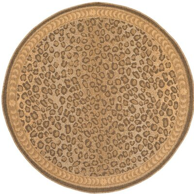 Alfina Cheetah Gold/Brown Indoor/Outdoor Area Rug Rug Size: Round 710