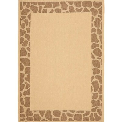 Alver Lake Beige/Brown Indoor/Outdoor Area Rug Rug Size: 6 6 x 9 6