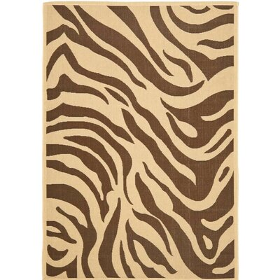 Almada Cove Beige/Brown Indoor/Outdoor Area Rug Rug Size: 6 6 x 9 6